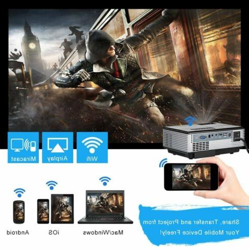 2800lm Full WiFi Home Theater Game DVD