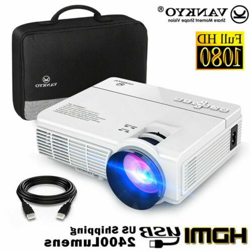VANKYO LEISURE 3 Full HD 1080p Mini Projector 2400 Lux HDMI