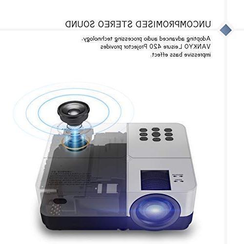 VANKYO Projector, Portable Home Movie Cinema, Projection TV Stick, Xbox, HDMI, VGA, AV,