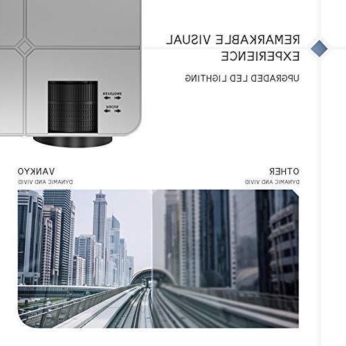 Projector, Movie Cinema, 200'' Projection Compatible TV HDMI, VGA, AV,
