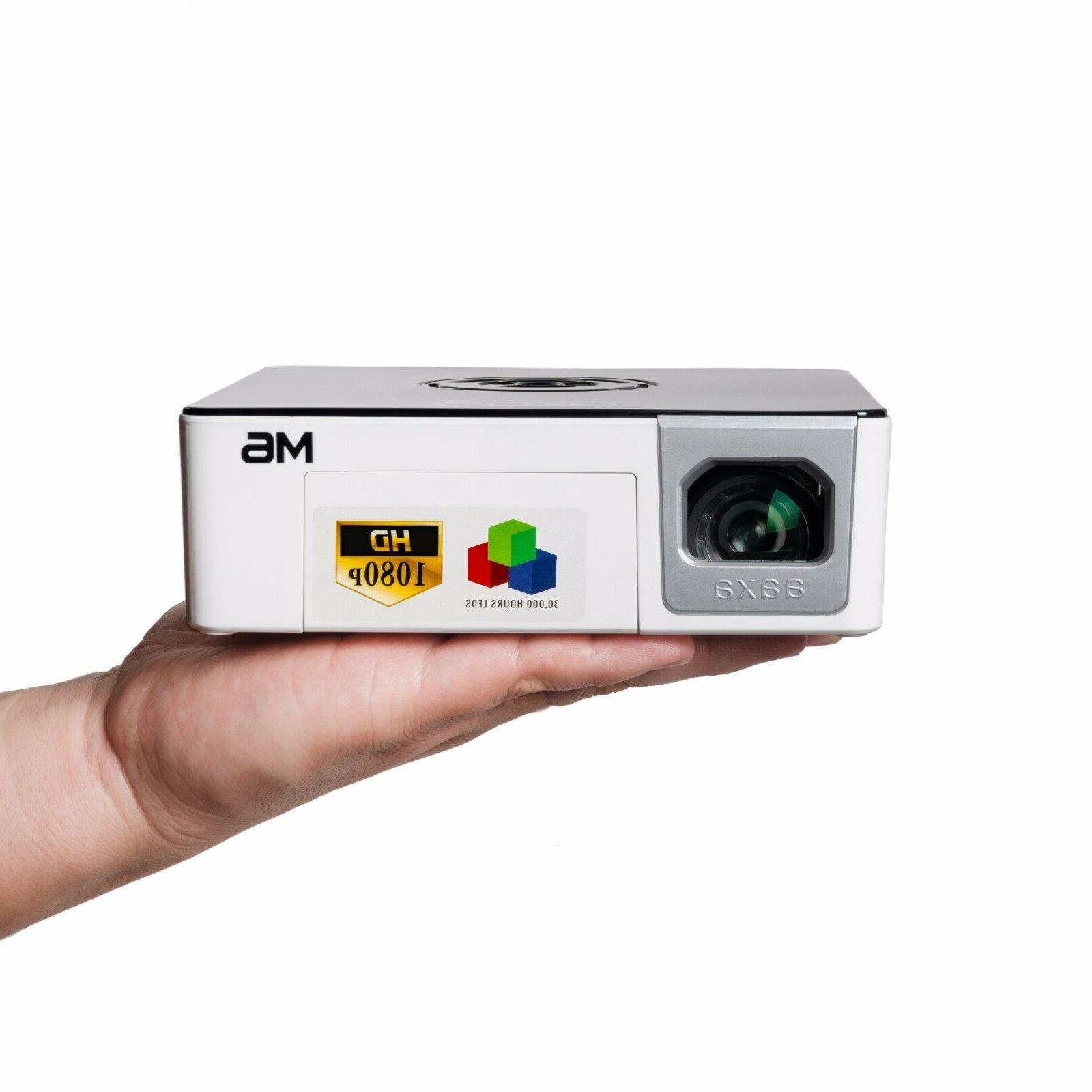 AAXA M6 Pico LED FULL HD Projector,1200 Lumens,Battery Power