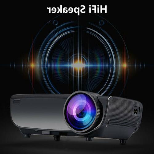 Mini LED Projector Home Cinema HDMI TV USB