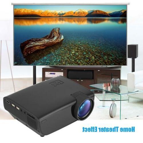 Mini Full HD LED Projector Cinema 3D HDMI TV USB