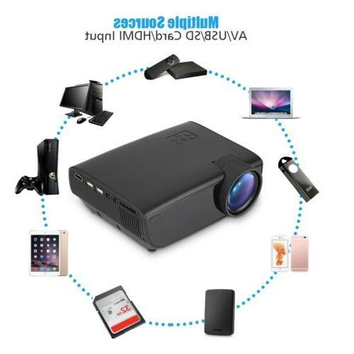 LED Projector Cinema 3D TV USB