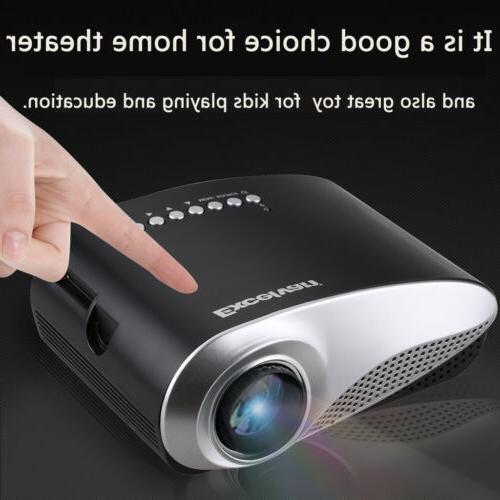 MINI 1080P LED Projector Cinema Iphone Labtop PC