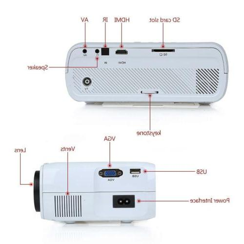 LED Projector Theater USB