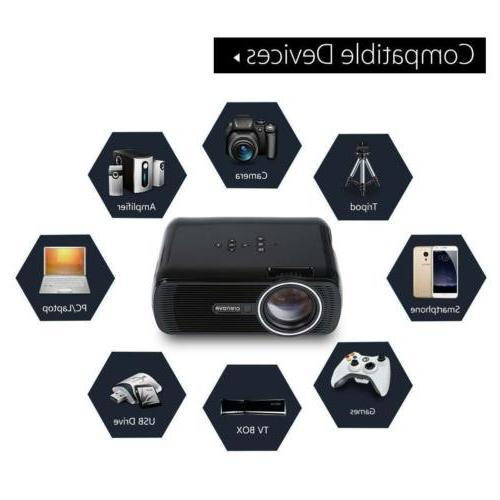 Mini HDMI Full LED Multimedia Theater Cinema 3D USB US