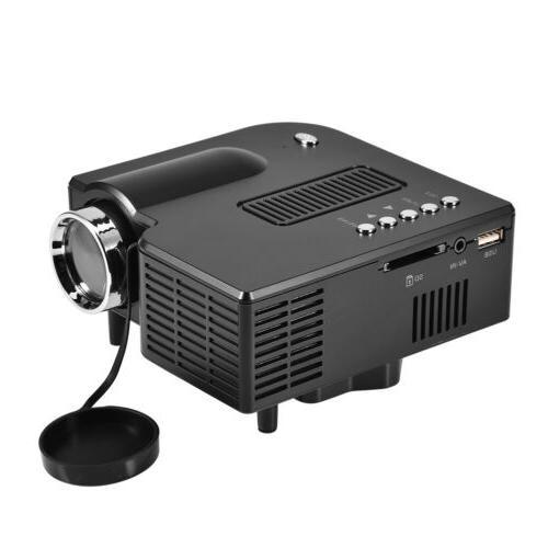 Mini 1080P LED Projector Multimedia Home Theater TV VGA