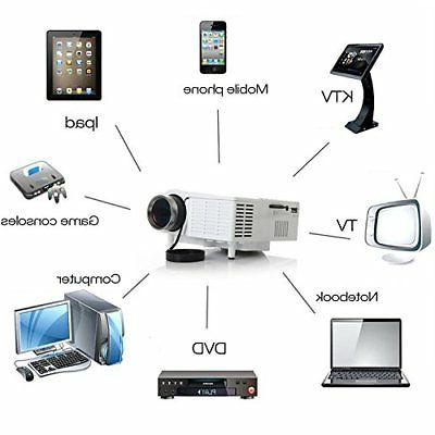 Mini LCD Projector Multimedia Home Theater VGA HDMI