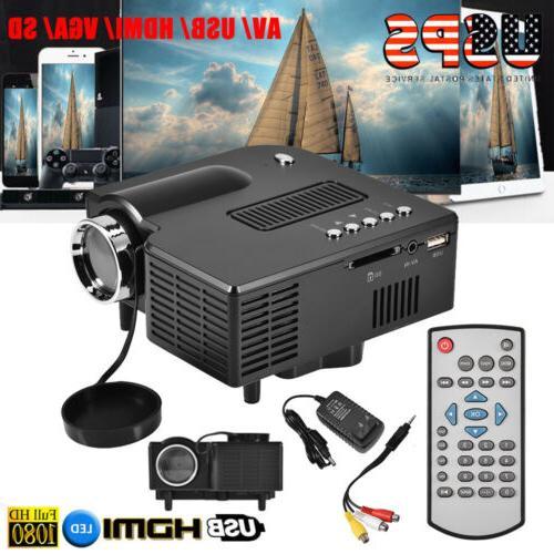 mini 1080p lcd led projector multimedia home