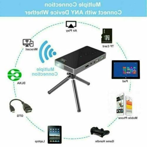 Mini Pocket DLP Wifi Projector HD 1080P HDMI USB Home Cinema
