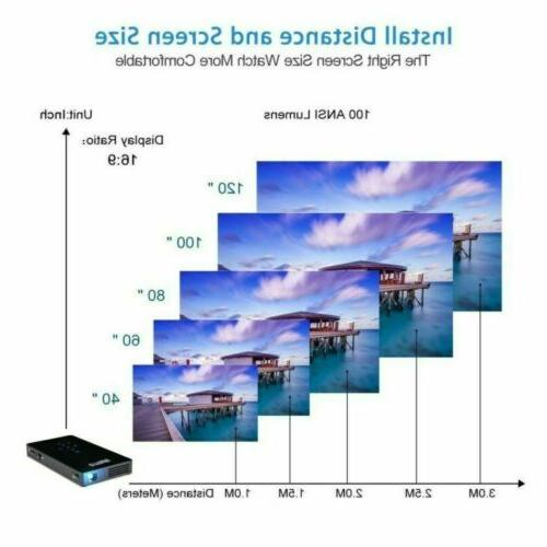 Mini Pocket Lumens DLP Android HD 1080P HDMI USB Home Cinema