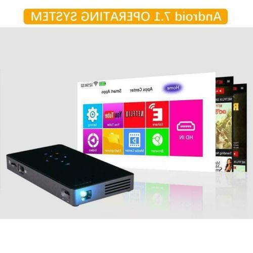 Mini 7.1 Wifi Theater Projector HD HDMI