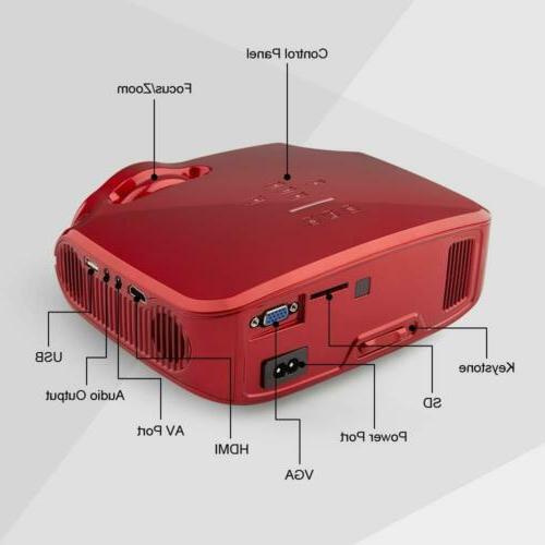 "Projector Portable 3200 200"" Compatible PC PS4"