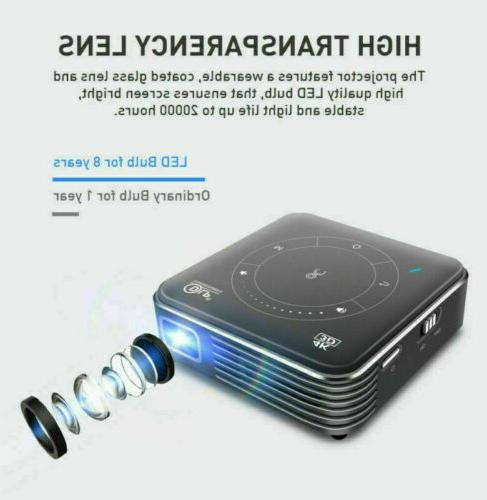 Mini 4000Lumen 3D 1080P Cinema 4K WIFI HDMI SD