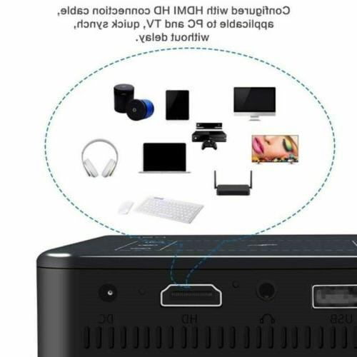 Mini 5000Lumens DLP 1080P TOUCH Projector Android Wifi 4K HDMI 16GB Bluetooth