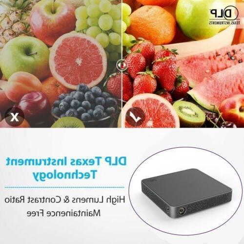 Mini 5500Lumens DLP HD Projector Android USB