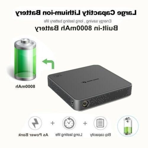 Mini 5500Lumens DLP HD Projector Bluetooth Home Theater USB