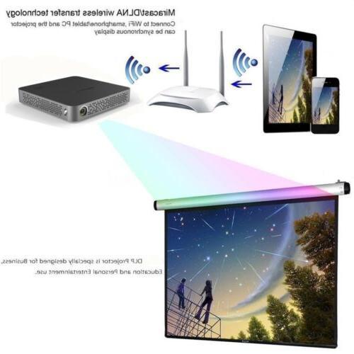 Mini 5500Lumens HD Projector Wifi Bluetooth Home Theater USB
