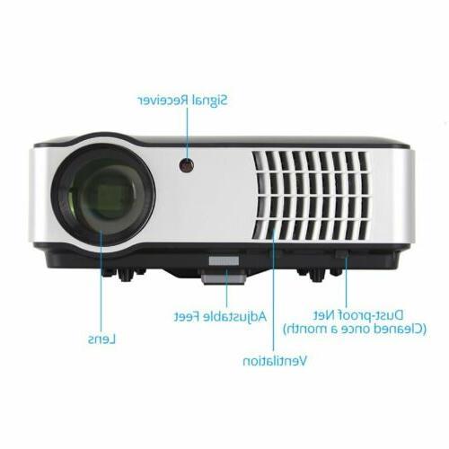 MINI 3D HD LED HDMI/USB/SD/AV/VGA