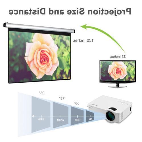MINI 7000LUMEN 3D HD LED VIDEO HDMI/USB/SD/AV/VGA HOME CINEMA