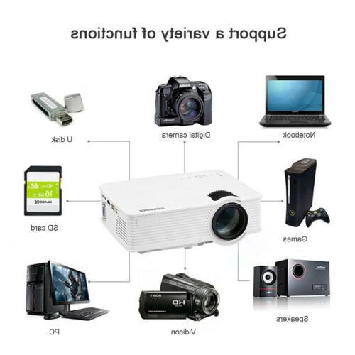 "MINI Projector 1080P 7000Lumens 3D Home Cinema HDMI 100"" Screen"