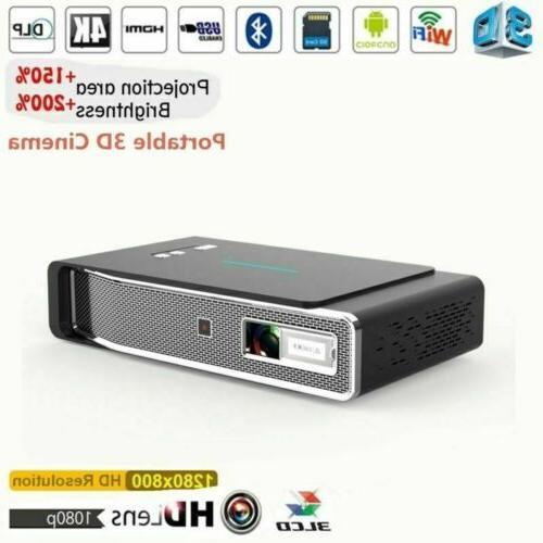 Mini 8500 Lumens Projector WIFI HD Home Cinema USB SD