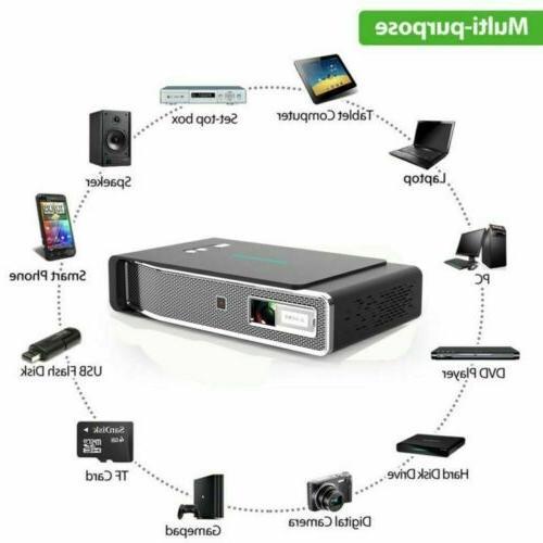 Mini Lumens Projector 4K WIFI HD Home Cinema