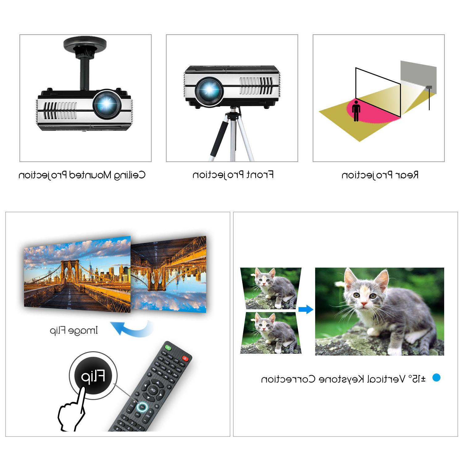 EUG Bluetooth LED HD Projector Games