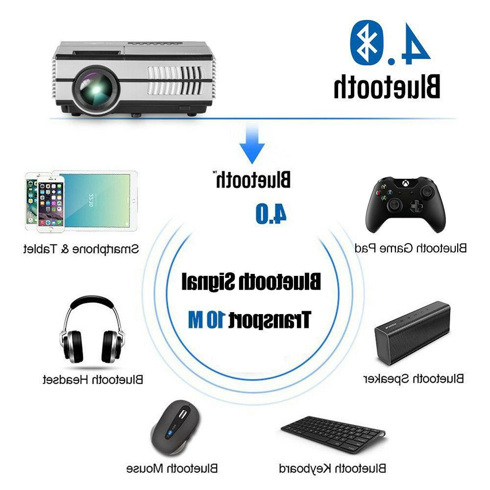 EUG Bluetooth Projector 1080p Home Games