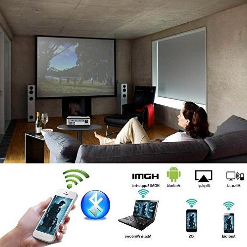 Wireless Mini WiFi Bluetooth LCD LED Home Theater Multimedia HDMI USB Speakers for TV
