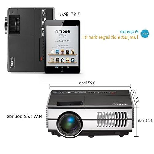 Wireless Projector WiFi HDMI LCD LED Portable Theater Multimedia VGA Speakers Airplay for TV Xbox