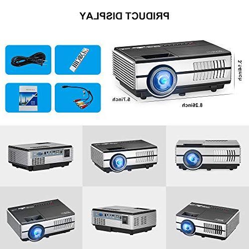 Mini LCD Multimedia HDMI Support 1080P LED Movies Artworks Speakers,Zoom,Keystone