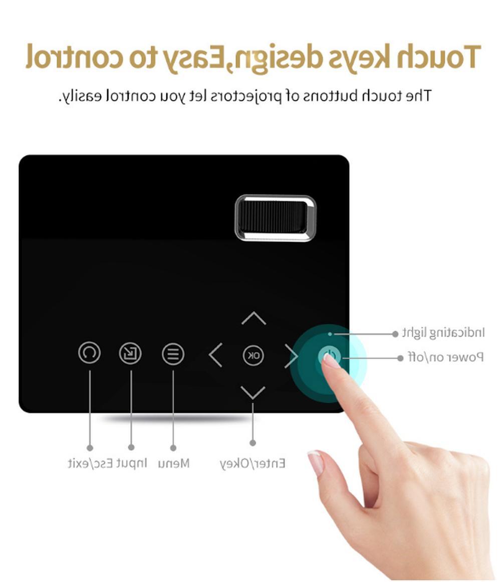 Mini Digital LCD Projector 1080P VGA AV