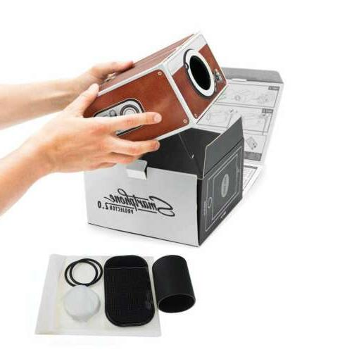 3D Cardboard Smart phone Projector Portable Cinema