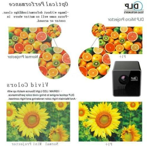 Mini DLP Projector HD Cinema Airplay SD