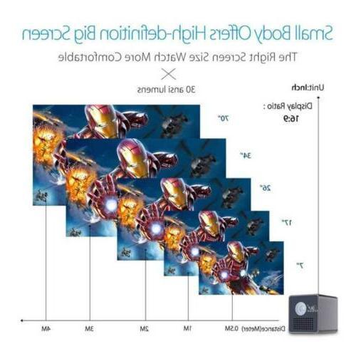 Mini Projector 1080P Home Cinema Wifi SD