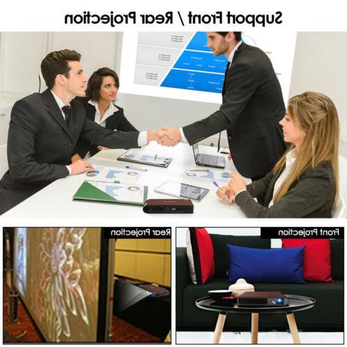 HD Portable 3D Projector Conference HDMI Miracast+3D