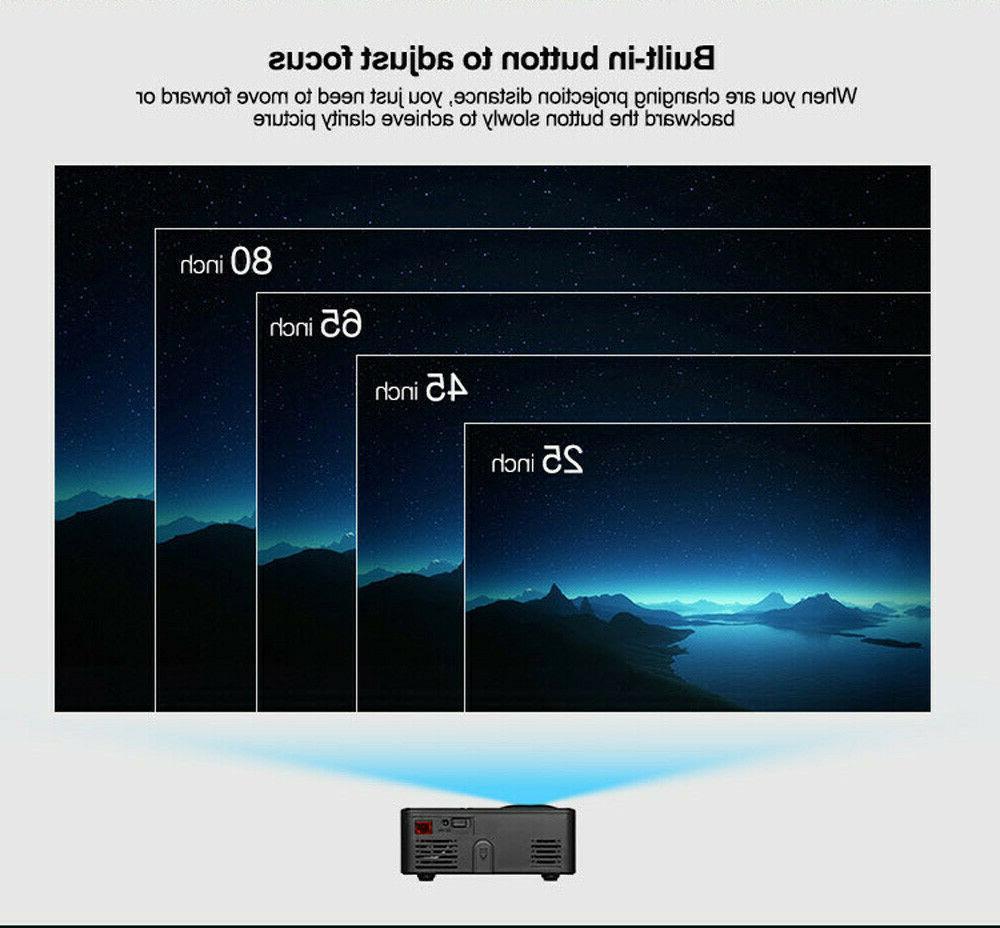 Mini HD LED Projector Home Cinema HD HDMI VGA