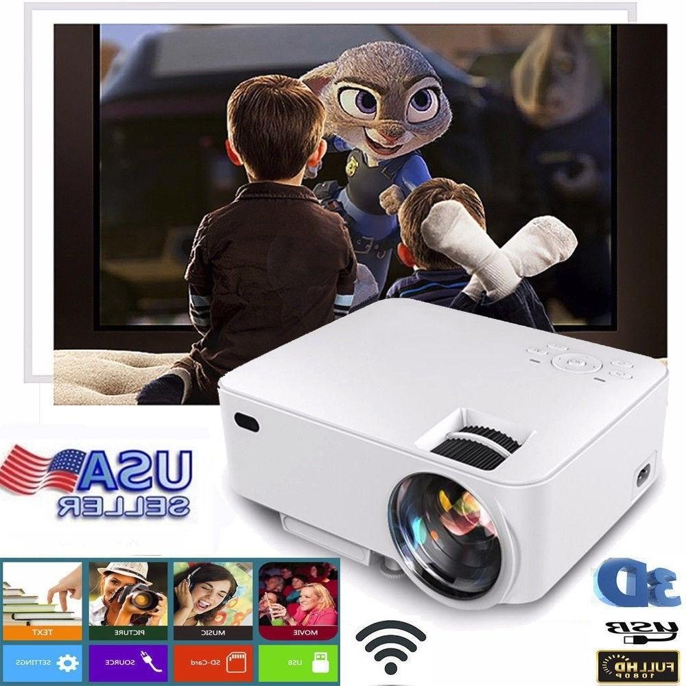 mini hd 1080p led projector home theater
