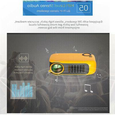 Mini 1080P Portable Pocket Projector Video Projectors Home