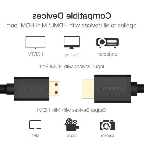 Ugreen Mini HDMI to HDMI Cable 4K High for