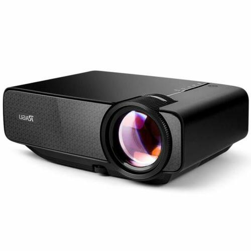 mini home movie projector fhd1080p pc mac