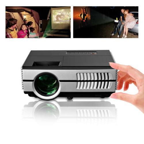 2800lm mini led projector portable hdmi usb