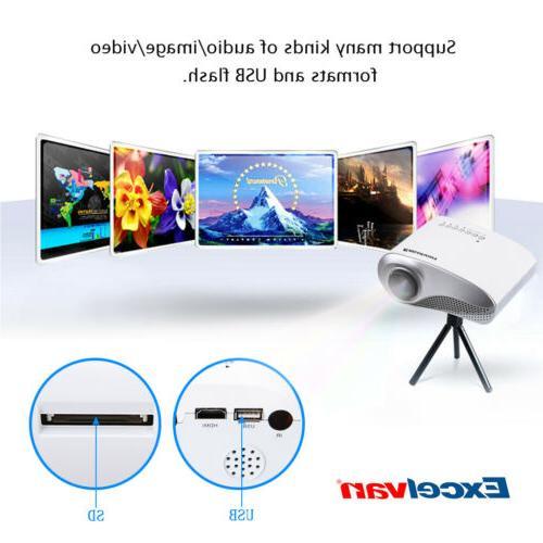 Mini LED Projector Home Theater USB AV Multimedia