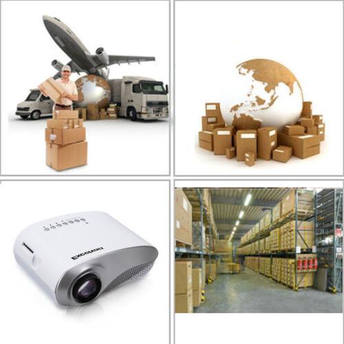 Mini LED Projector Home Cinema USB VGA Multimedia