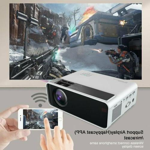 4K 1080P HD WiFi 3D Mini Home Cinema 2800LM