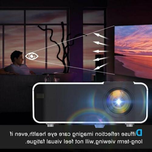 28000 1080P Wifi Bluetooth Movie Projector Theatre HDMI USB