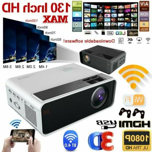 23000LM 4K 1080P LED Smart Home Theater Projector Android6.0