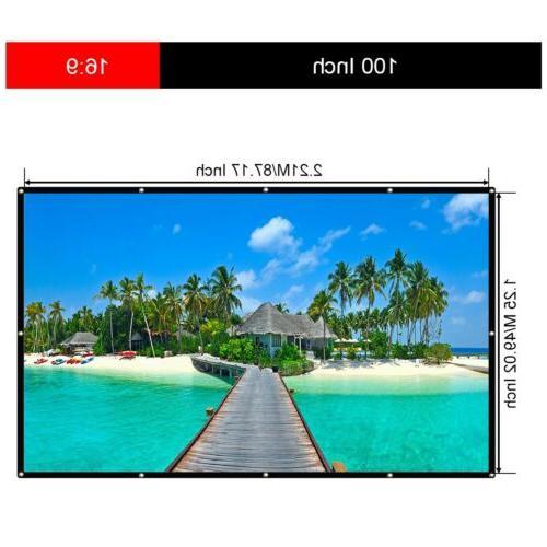 "MINI 1080P 7000Lumens 3D Cinema HDMI 100"" Screen"